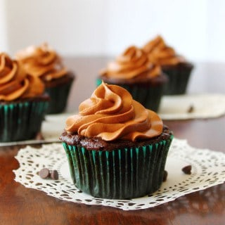 Chocolate Zucchini Cupcakes with Cream Cheese Frosting