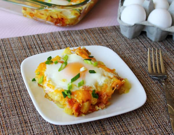 Ham and Potato Breakfast Bake