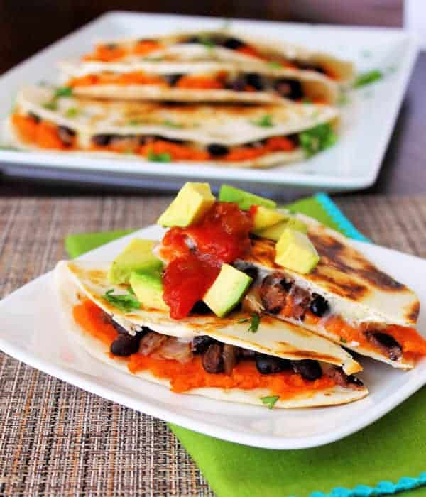Black Bean Sweet Potato Quesadilla