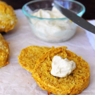 Pumpkin Biscuits with Whipped Maple Butter