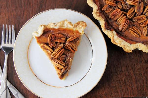 Pumpkin Pie with Candied Pecans