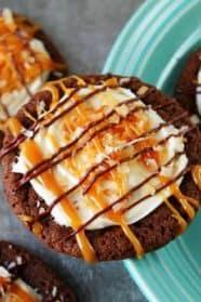 Chocolate Samoa Cookies