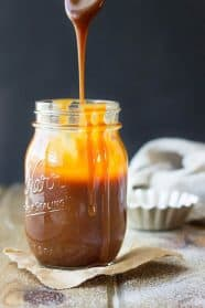 This Salted Caramel Sauce is great for drizzling on cakes, cupcakes, cheesecakes, brownies and ice cream! It's super easy to make and tastes a lot better than the store bought!