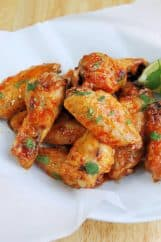 Crispy Baked Spicy Margarita Wings
