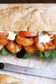 Spicy Shrimp Sandwich with Avocado Mayo