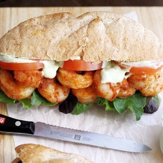 Spicy Shrimp Sandwich with Avocado Mayo