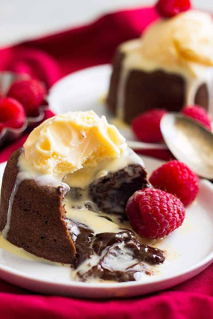Chocolate Molten Cake Topped With