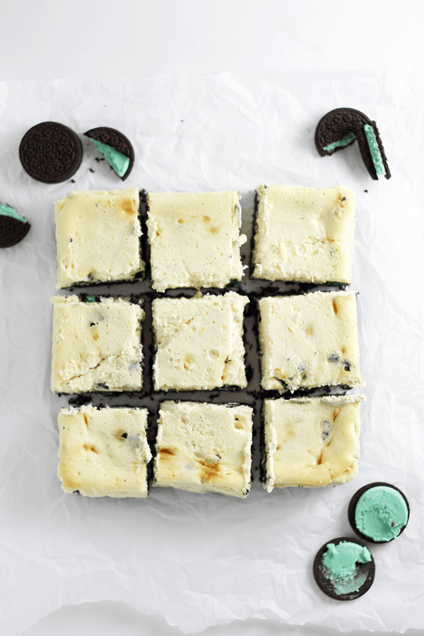 Mint Oreo Cheesecake Bars