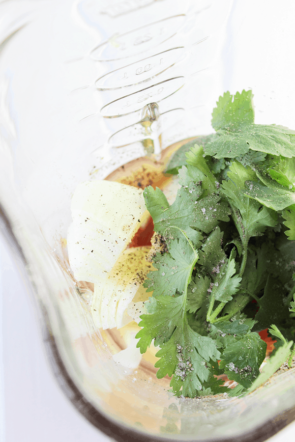 This simple blender salsa takes minimal effort to make and is a smooth restaurant style salsa.
