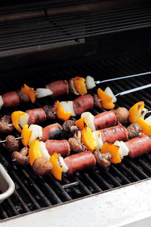 These Sausage and Veggie Kabobs are quick, easy and great for a summertime bbq.  | Countryside Cravings