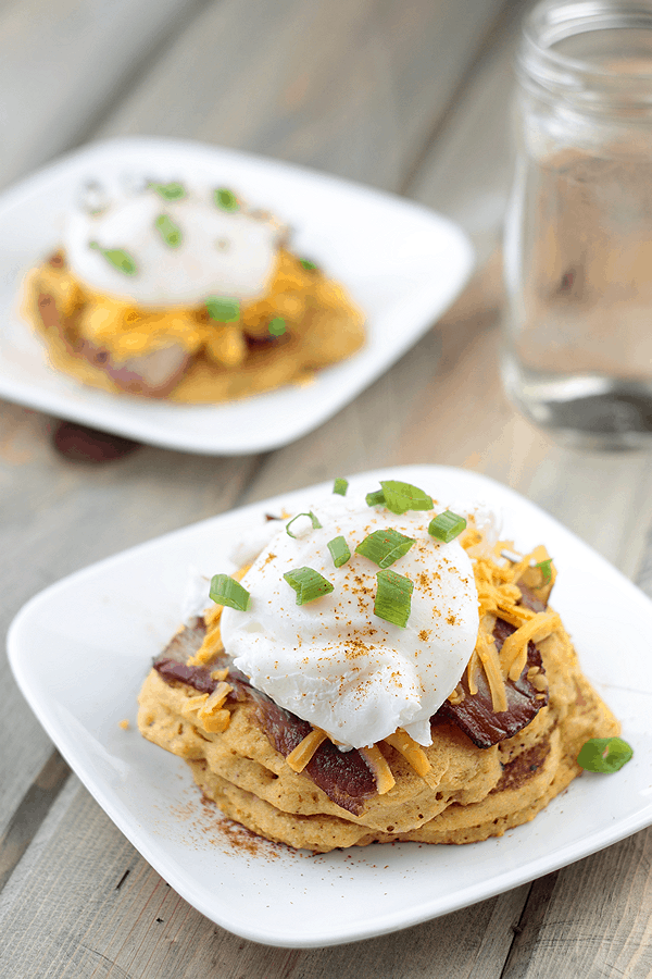 These Southwestern Corn Cake Stack will be a nice change of pace from your traditional breakfast! | Countryside Cravings