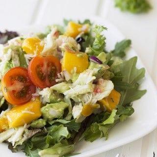 Crab, Mango and Avocado Salad