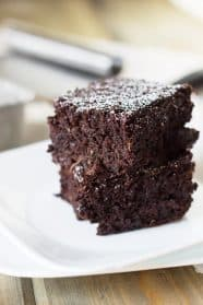 These Zucchini Brownies are a rich, decadent, chocolatey treat! | Countryside Cravings