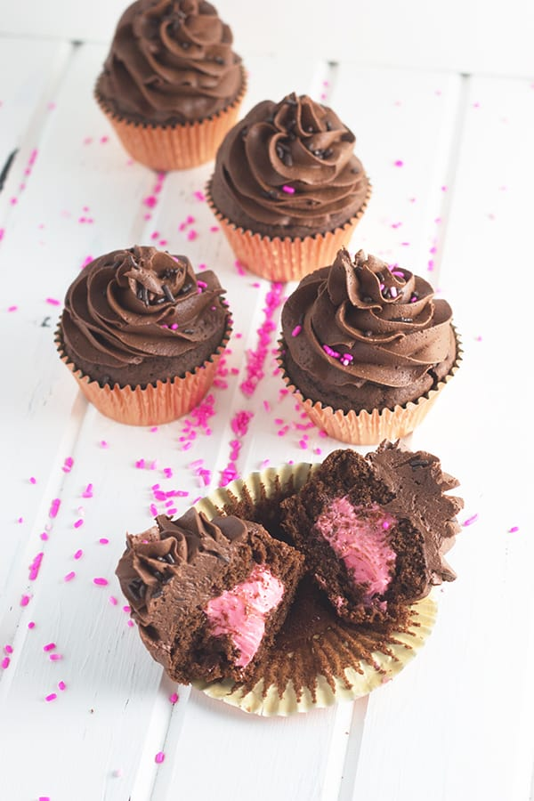 Chocolate Cupcakes with Chocolate Buttercream- this is a simple and straight forward recipe for moist chocolate cupcakes and fluffy chocolate buttercream. | countrysidecravings.com