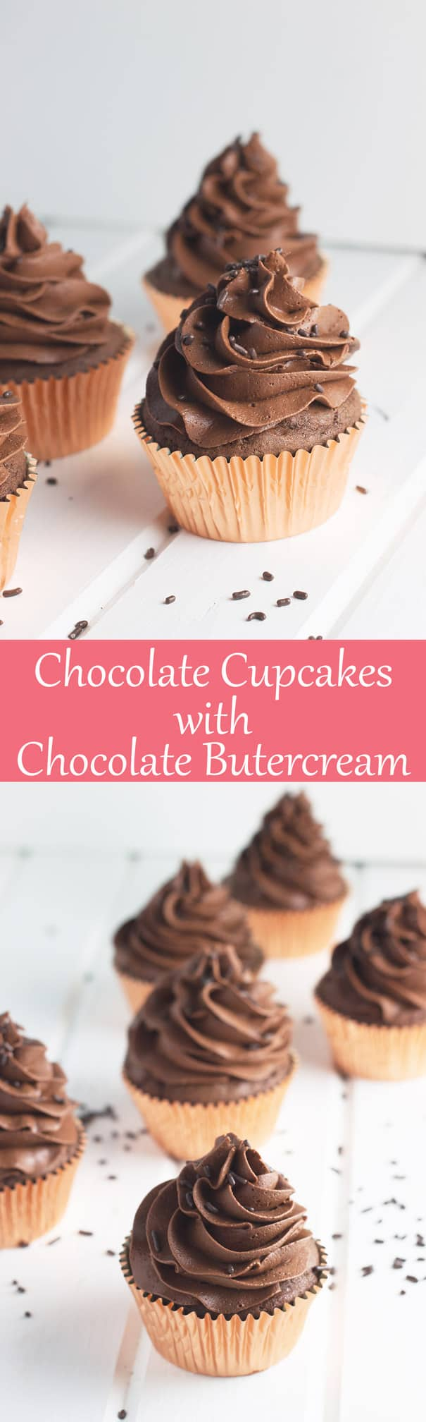 Chocolate Cupcakes with Chocolate Buttercream | Countryside Cravings