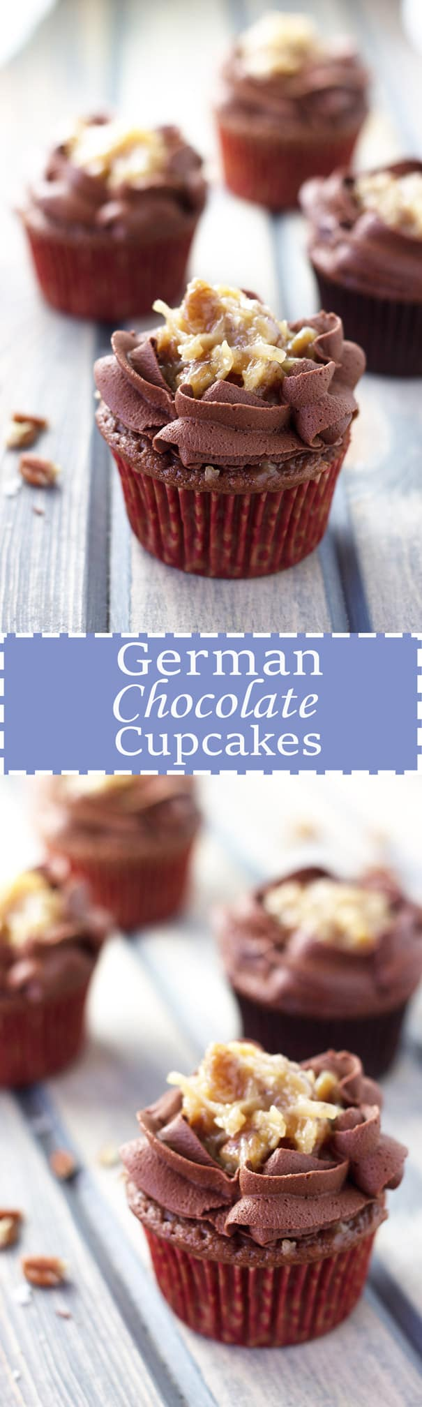 German Chocolate Cupcakes | Countryside Cravings