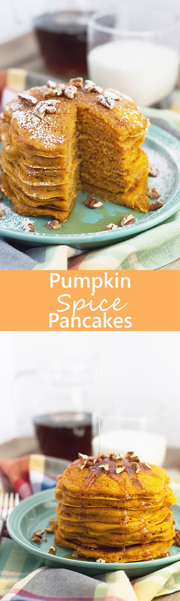 Pumpkin Spice Pancakes- these are everything a pancake should be, tall, soft and fluffy. But they are made extra special with the addition of pumpkin and spice! | Countryside Cravings