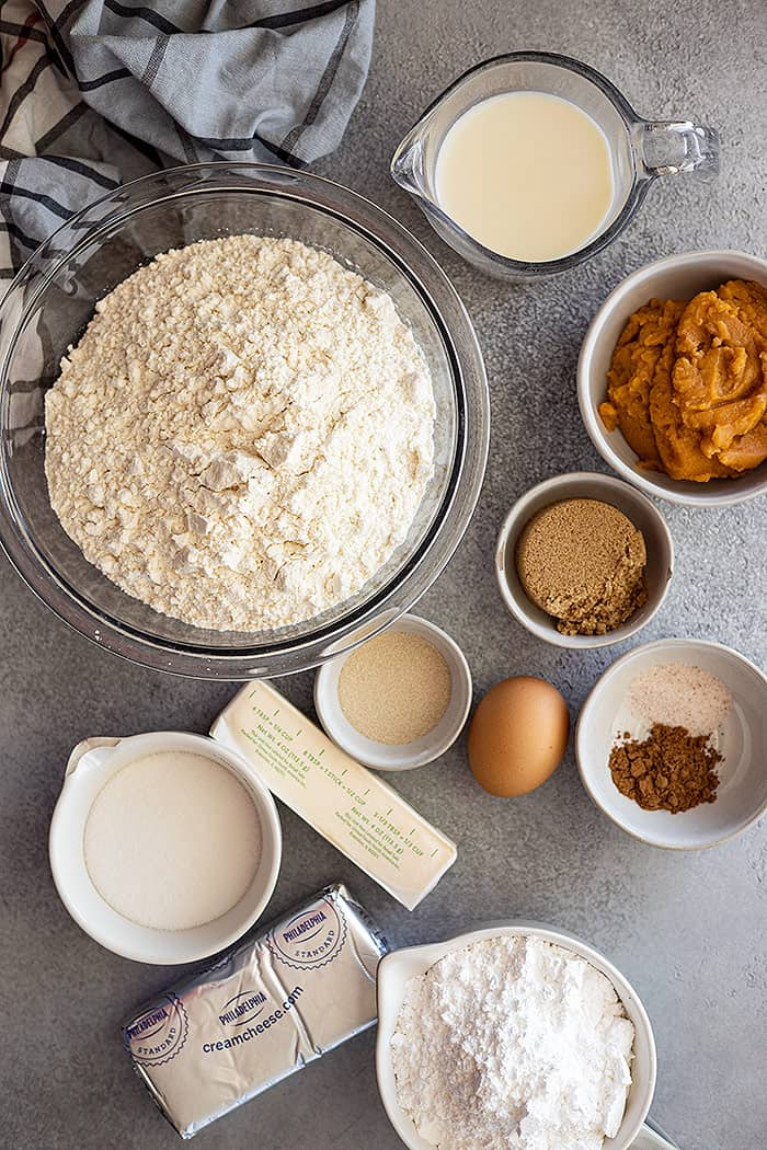 Overhead view of all the ingredients needed.