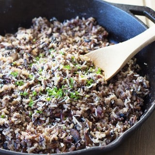 Cheesy Wild Rice with Mushrooms