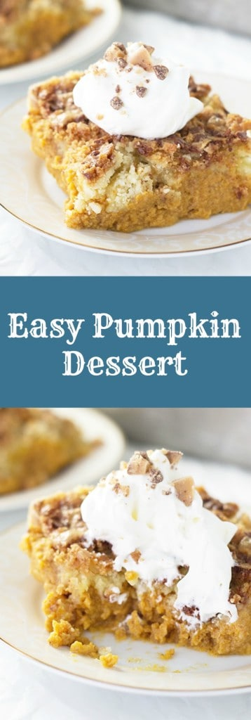 Easy Pumpkin Dessert- this is an easy pumpkin dessert that tastes great without all the fuss. | countrysidecravings.com
