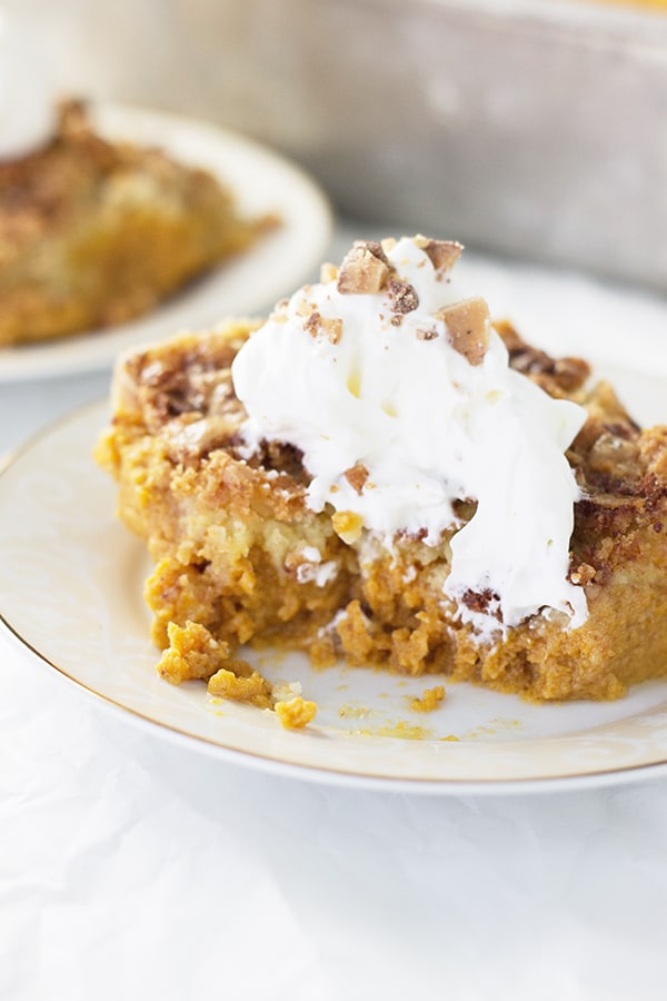 Easy Pumpkin Dessert- super easy pumpkin dessert recipe that tastes great, just without all the fuss!! | countrysidecravings.com