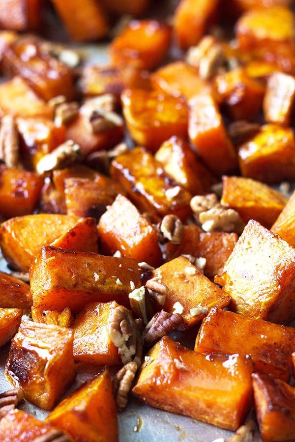 Maple Roasted Sweet Potatoes | Countryside Cravings