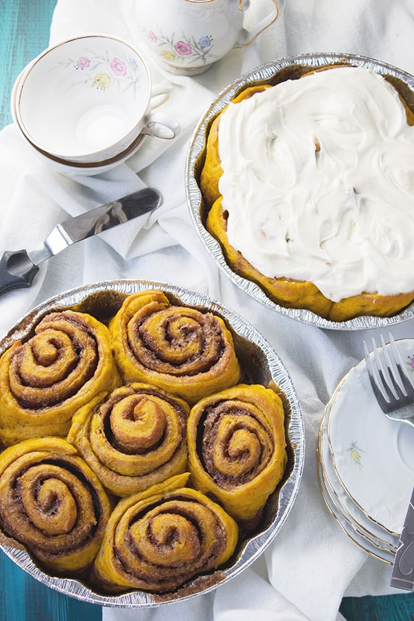 ... pumpkin and spice and topped with a thick creamy layer of cream cheese