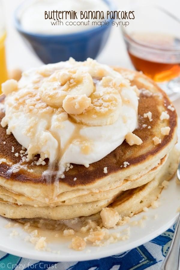 Buttermilk Banana Pancakes | Crazy for Crust