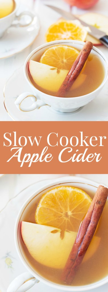 Slow Cooker Apple Cider- made easy in the slow cooker and so warm and comforting! | countrysidecravings.com
