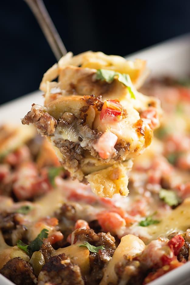 Mexican Bagel Breakfast Casserole | Buns in My Oven