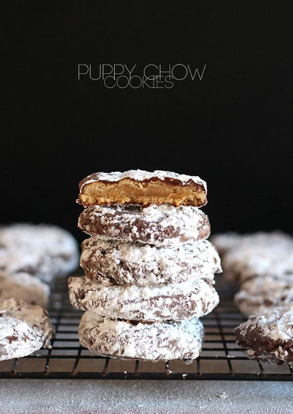 Puppy Chow Cookies | Cookies and Cups