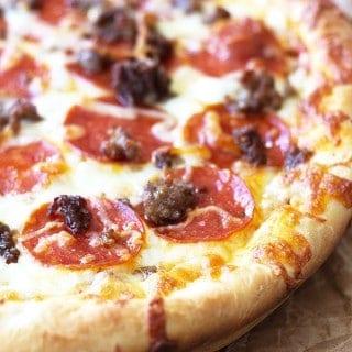 Deep Dish Three Meat Pizza