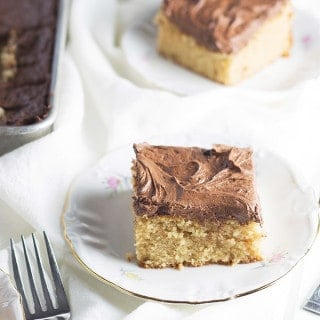Peanut Butter Cake with Chocolate Frosting