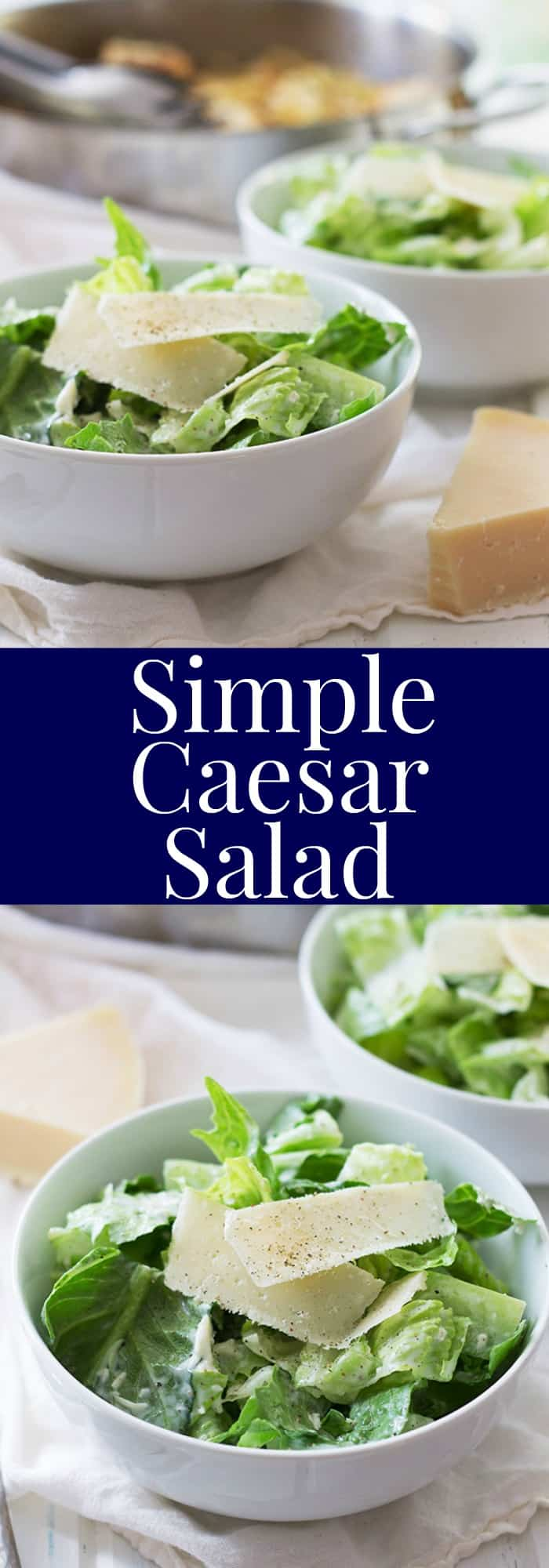 Simple Caesar Salad -a quick and easy way to enjoy a salad, and it's ...