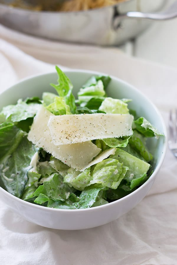 Simple Caesar Salad -a quick and easy way to enjoy a salad, and it's healthy! | countrysidecravings.com