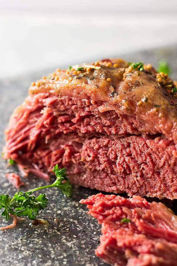 This Slow Cooker Guinness Corned Beef is an easy one pot meal make in the crockpot! The Guinness and a touch of brown sugar make the dish extra special! | www.countrysidecravings.com