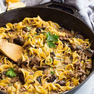 One Pot Hamburger Stroganoff