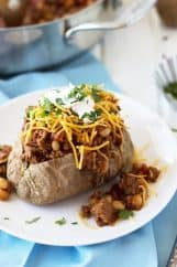 Taco Baked Potatoes are a great way to use up leftover baked potatoes and make for a super satisfying dinner! | www.countrysidecravings.com