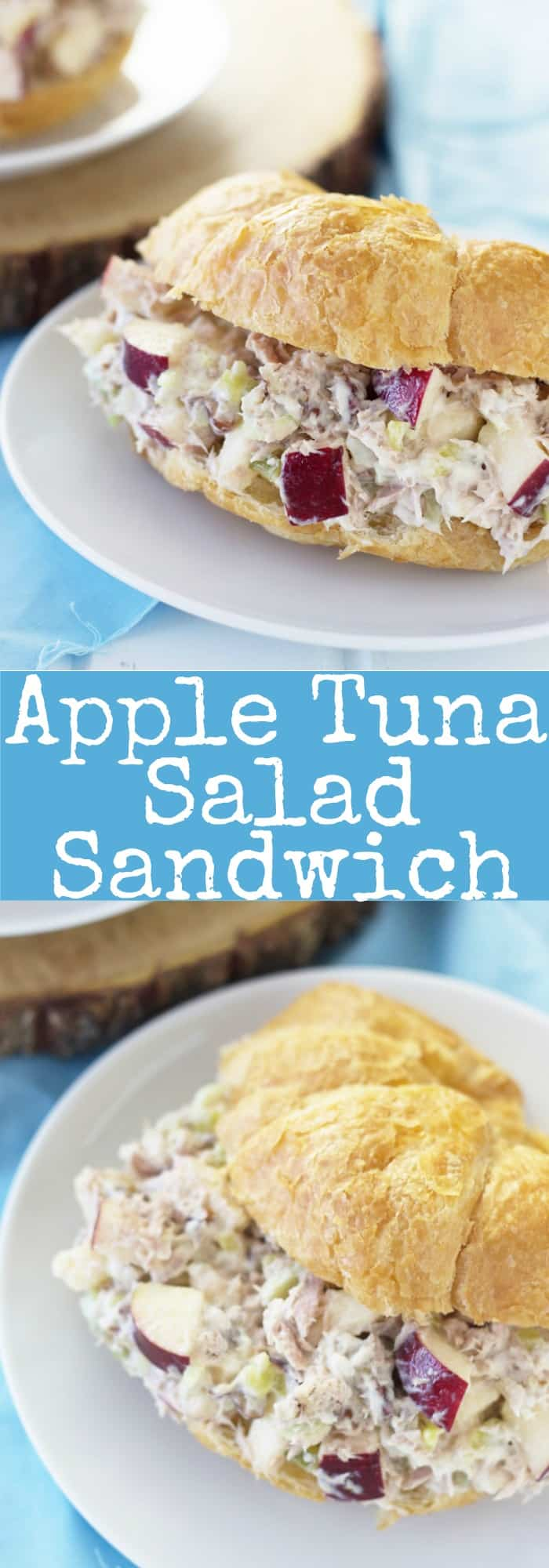 Apple Tuna Salad Sandwiches are a quick and simple lunch that requires no cooking!   www.countrysidecravings.com