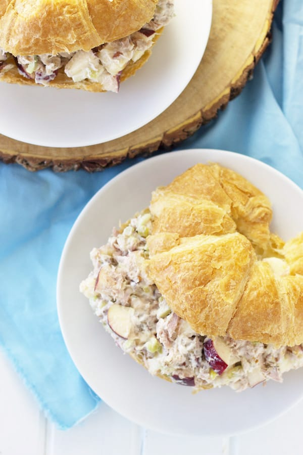 An Apple Tuna Salad Sandwich is a quick and simple lunch that requires no cooking!   www.countrysidecravings.com