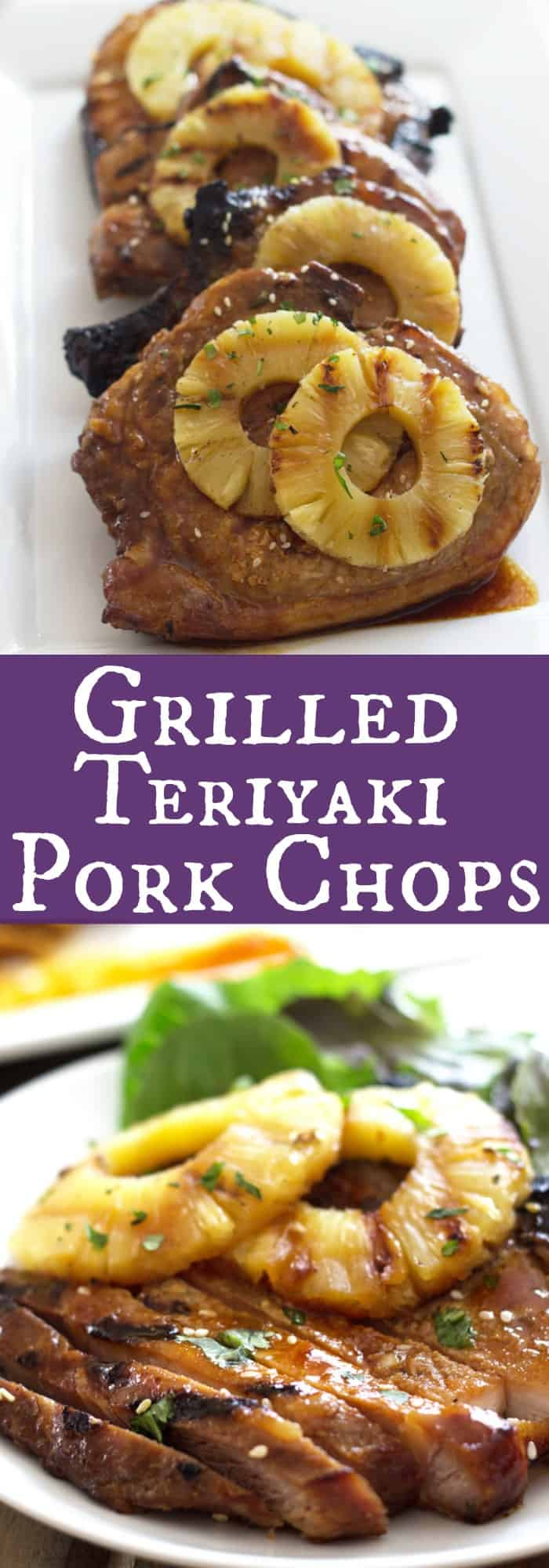 Grilled Teriyaki Pork Chops Pork Chops Marinated In A Simple Homemade Teriyaki Sauce Then Grilled