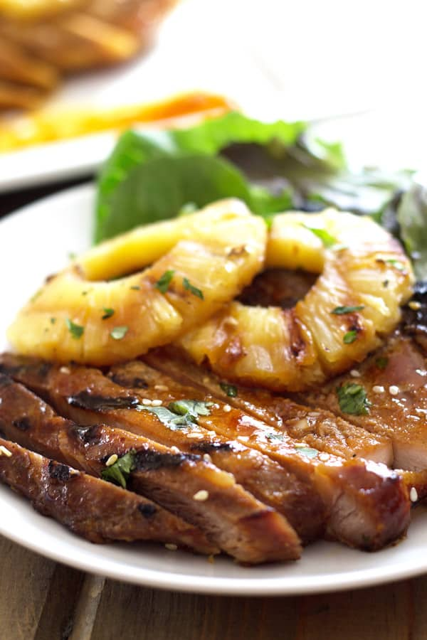 Grilled Teriyaki Pork Chops - pork chops marinated in a simple homemade teriyaki sauce then grilled to perfection! | www.countrysidecravings.com