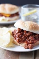 Homemade Sloppy Joes -a quick and simple recipe that replaces that store bought can of sauce! | www.countrysidecravings.com