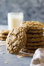 These Soft and Chewy Oatmeal Cookies are an all butter cookie that are super easy to make. They stay soft for days and taste phenomenal!