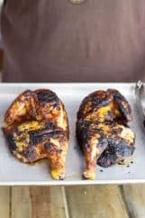 Applewood Grill Smoked Chicken -the applewood provides a mild smokiness and the dry rub gives hints of sweetness for a perfectly juicy chicken. | www.countrysidecravings.com