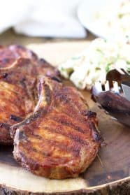 Quick Smoked BBQ Pork Chops are an easy way to get that great smoke flavor without the long smoking process.   www.countrysidecravings.com