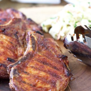 Quick Smoked BBQ Pork Chops