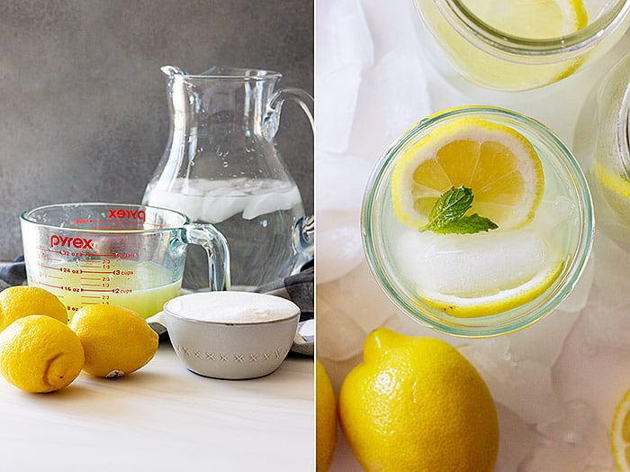 Ingredients to make homemade lemonade.
