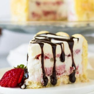Ladyfinger Strawberry Ice Cream Cake