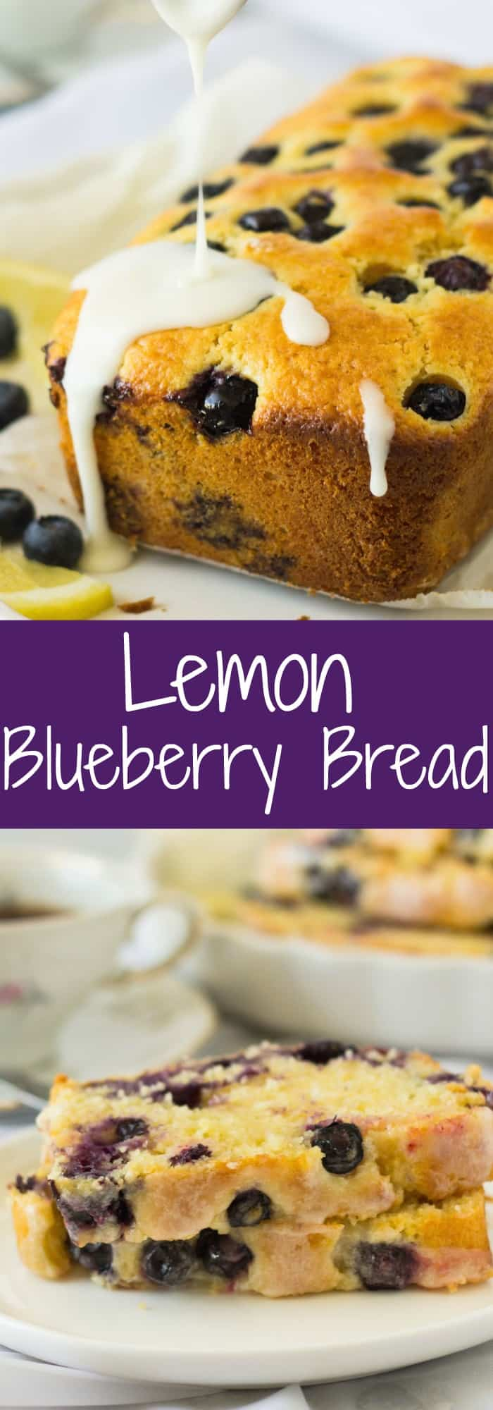This moist Lemon Blueberry Bread is studded with juicy blueberries and loaded with lemon flavor. The optional lemon glaze adds more flavor and locks in moisture.